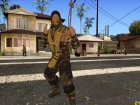 Scoprion from Mortal Kombat X для GTA San Andreas вид справа