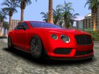 Bentley Continental GT3R 2015 для GTA San Andreas вид сзади слева