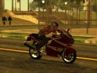 GTA 5 Moto Driving Animation for GTA San Andreas rear-left view