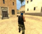 Guerilla Re-Skin (Blue Headband) for Counter-Strike Source rear-left view