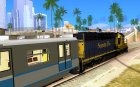 Локомотив SD 40 Santa Fe Blue/Yellow для GTA San Andreas вид слева