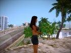 Девушка из загрузочного экрана - 2 для GTA San Andreas вид слева