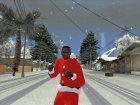 Красная куртка Санта Клауса for GTA San Andreas rear-left view