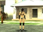 Dead Or Alive 5 LR Kokoro Black Shirt Hot Pants for GTA San Andreas back view