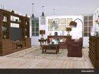 Living Pottery Barn для Sims 4 вид слева