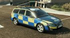 Essex Police Volvo V70 for GTA 5 top view