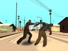 Разные стили борьбы актёров для GTA San Andreas вид сзади слева