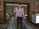 Skin HD GTA V Online парень с белыми глазами для GTA San Andreas вид слева