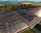 Осенние текстуры дорог для Euro Truck Simulator 2 вид сверху