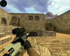 AUG  Закрученный for Counter-Strike 1.6 rear-left view