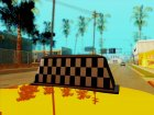 Lada Granta Taxi for GTA San Andreas top view