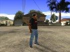 CJ в футболке (Crow) для GTA San Andreas вид сзади слева
