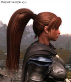 Ponytail Hairstyles for TES V Skyrim top view