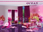 Ocean Kids Bedroom for Sims 4 left view