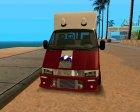 Gazelle Tow Truck для GTA San Andreas вид слева