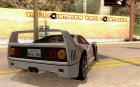 Ferrari F40 Black Revel для GTA San Andreas вид сверху