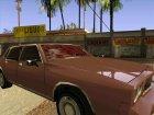 Кровь на стекле авто для GTA San Andreas вид сзади слева