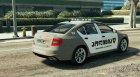 Skoda Octavia GEORGIA POLICE for GTA 5 rear-left view