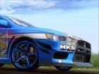 Mitsubishi Lancer Evolution X Taihou Itasha для GTA San Andreas вид сбоку