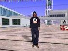 Парень в толстовке OBEY для GTA San Andreas вид слева