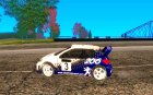 Peugeot 206 WRC из Richard Burns Rally для GTA San Andreas вид слева