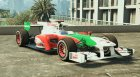 Force India F1 for GTA 5 top view