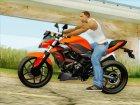 Kawasaki Z250SL Orange for GTA San Andreas