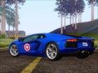 Lamborghini Aventador LP700 2012 Captain America для GTA San Andreas вид сверху