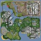 Дорожное приключение для GTA San Andreas вид сверху