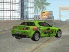 2004 Mazda RX-8 для GTA San Andreas вид изнутри