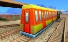 Пассажирский поезд 1 из Subway Surfers для GTA San Andreas вид слева