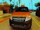 Lada Granta Taxi для GTA San Andreas вид изнутри