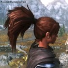 Ponytail Hairstyles для TES V Skyrim вид слева