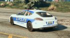 Porsche Panamera Turbo - Need for Speed Hot Pursuit Police Car для GTA 5 вид сзади слева