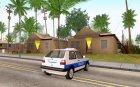 Volkswagen Golf Mk2 Policija для GTA San Andreas вид сверху