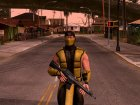 Mortal Kombat X Klassic Scorpion for GTA San Andreas top view