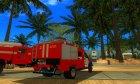 ГАЗон NEXT Пожарная АПЛ Города Арзамас для GTA San Andreas вид сзади слева