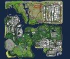 Жизненная ситуация для GTA San Andreas вид сверху