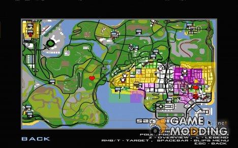 Новые значки карты для GTA San Andreas