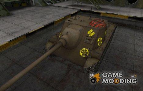 Контурные зоны пробития T25 AT для World of Tanks