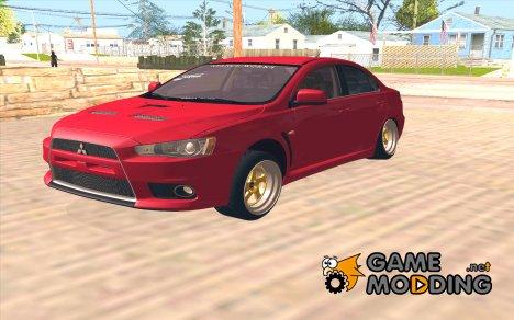 Mitsubishi Lancer Evo X Ganglow для GTA San Andreas