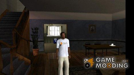 Фирменная футболка Gamemodding.net (новогодняя версия) for GTA San Andreas