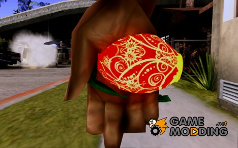 Новогодняя граната из WarFace для GTA San Andreas