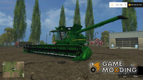 John Deere 690i v1.5 для Farming Simulator 2015