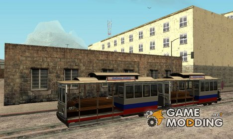 Tram, painted in the colors of the flag v.1.1 by Vexillum для GTA San Andreas