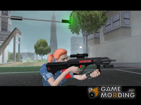 MP5 black and red для GTA San Andreas