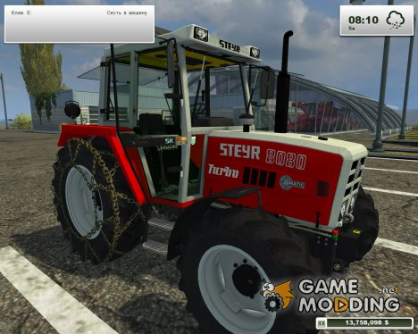 Steyr 8080A Turbo SK2 Larmarm V 1.0 for Farming Simulator 2013