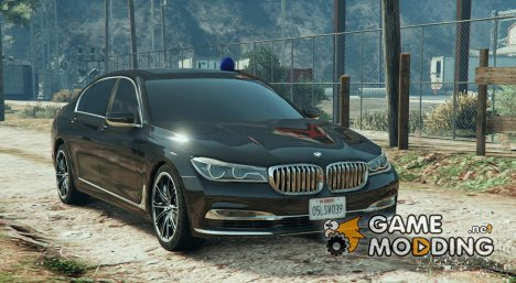 BMW 750  Blue Siren FINAL для GTA 5