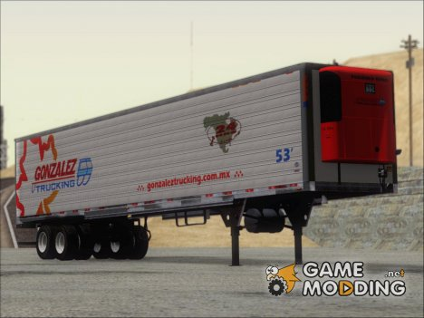 Trailer Gonzalez Trucking for GTA San Andreas