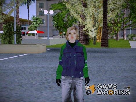 Девушка блондинка в куртке for GTA San Andreas